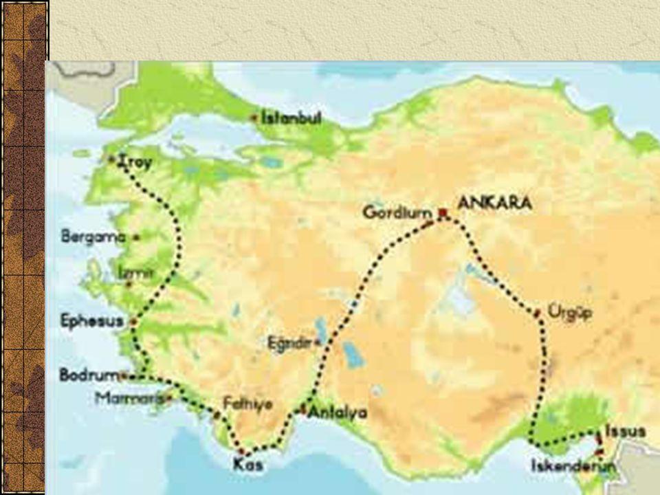 Fáze 1: Malá Asie Začátek u Tróje: uctívání řeckých hrdinů Rychlá vítězství Maloasijští Řekové bojují proti Gordium – pověst o gordickém uzlu