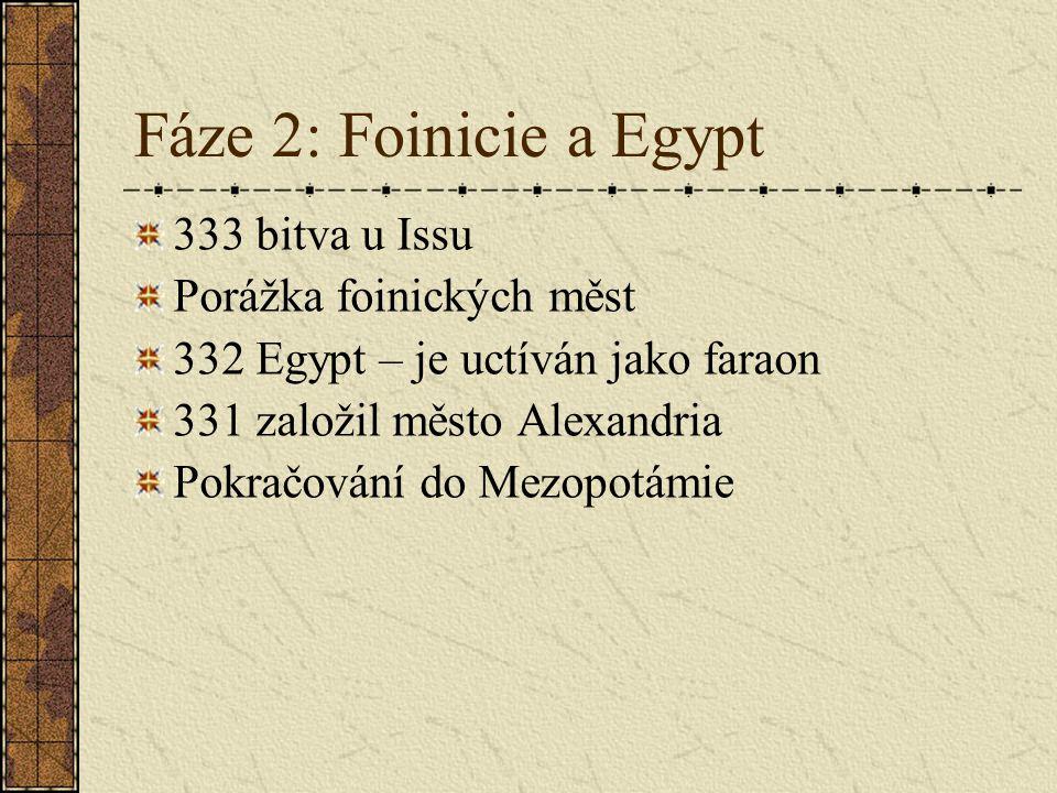 """Fáze 3: Persie 330 Susy 330 Persepole: srovnáno se zemí """"všeřecké tažení u konce Nábor perských žoldnéřů"""