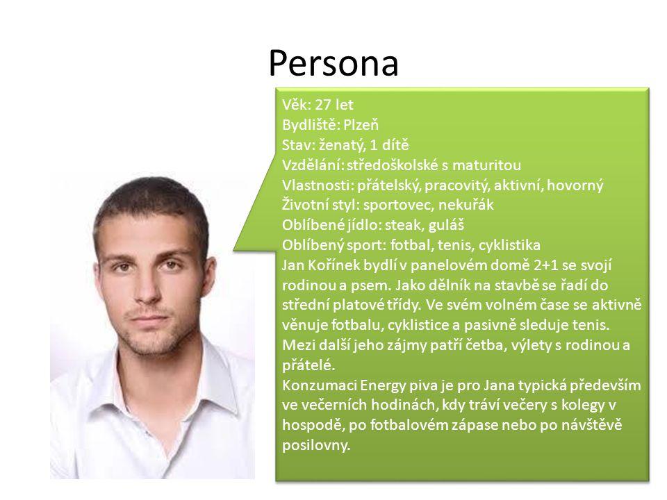 Persona Věk: 27 let Bydliště: Plzeň Stav: ženatý, 1 dítě Vzdělání: středoškolské s maturitou Vlastnosti: přátelský, pracovitý, aktivní, hovorný Životn