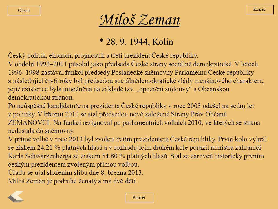 Václav Klaus Narodil se na pražských Vinohradech 19.