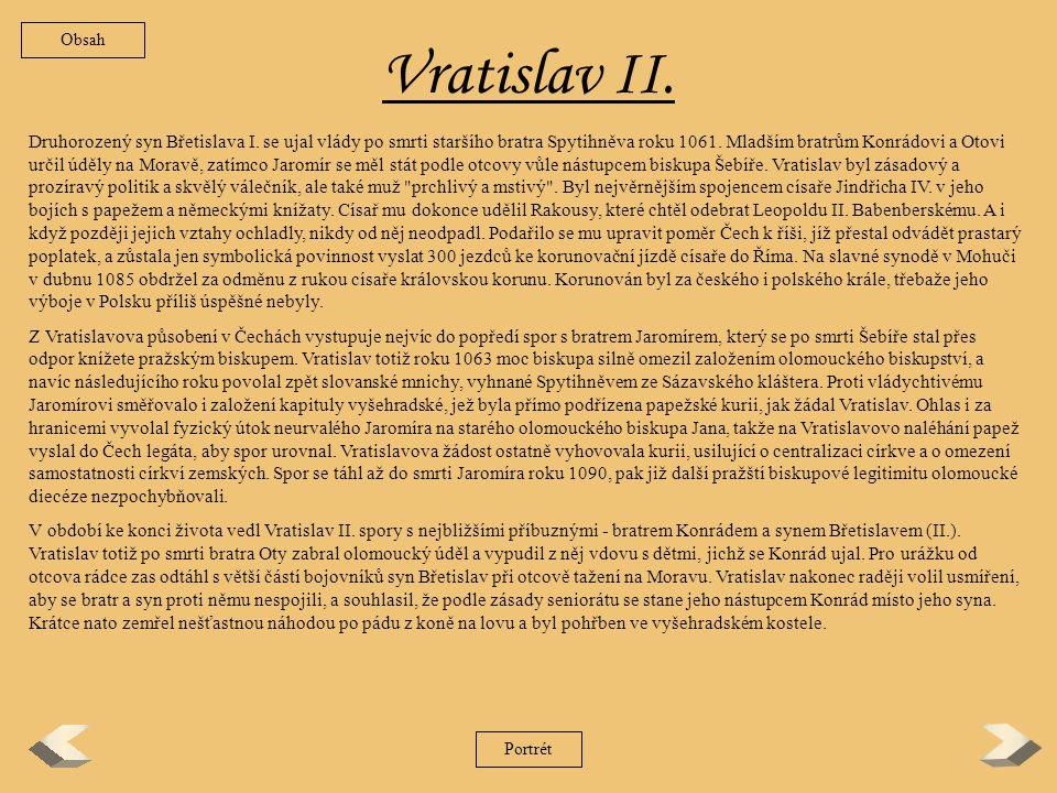Spytihněv II.Nejstarší syn knížete Břetislava I.