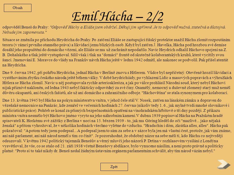 Emil Hácha - 1/2 Při svém odjezdu do Berlína 14.
