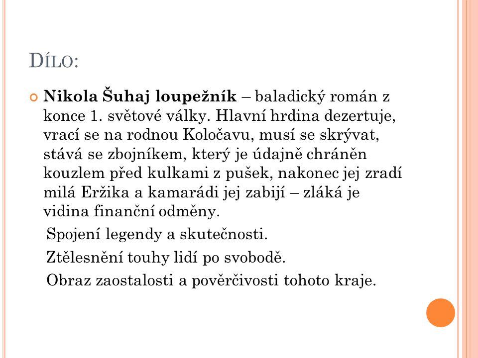 D ÍLO : Nikola Šuhaj loupežník – baladický román z konce 1.