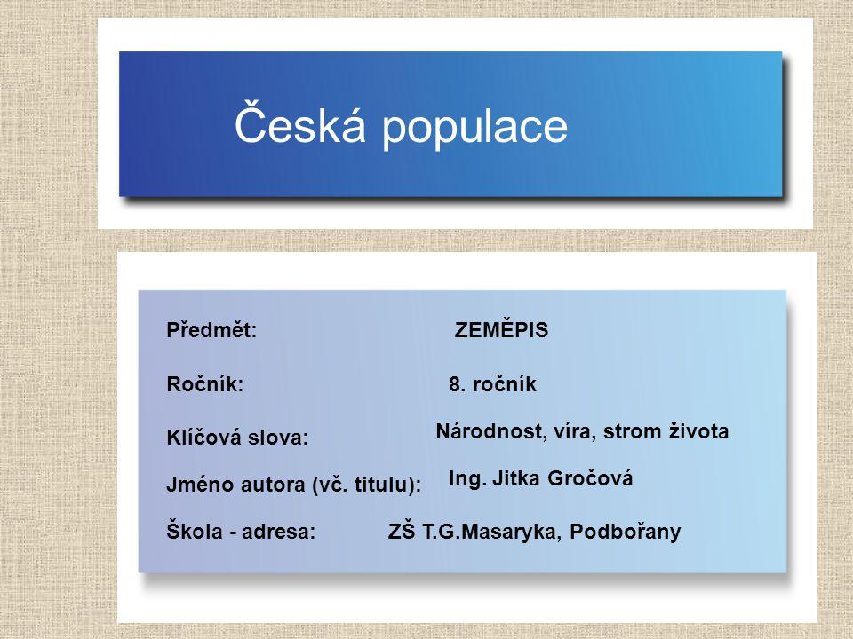 Věková struktura do roku 2050 zdroj: http://www.czso.cz/csu/redakce.nsf/i/home