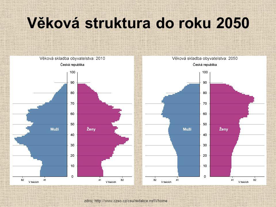Průměrný věk ČR v roce 2010 produktivní (15-64 let) 40,5 roku (39 muži,a 42 ženy) Přes 70 % - skupina