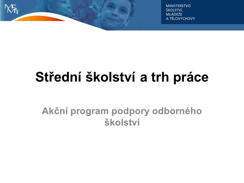 Střední školství a trh práce Akční program podpory odborného školství