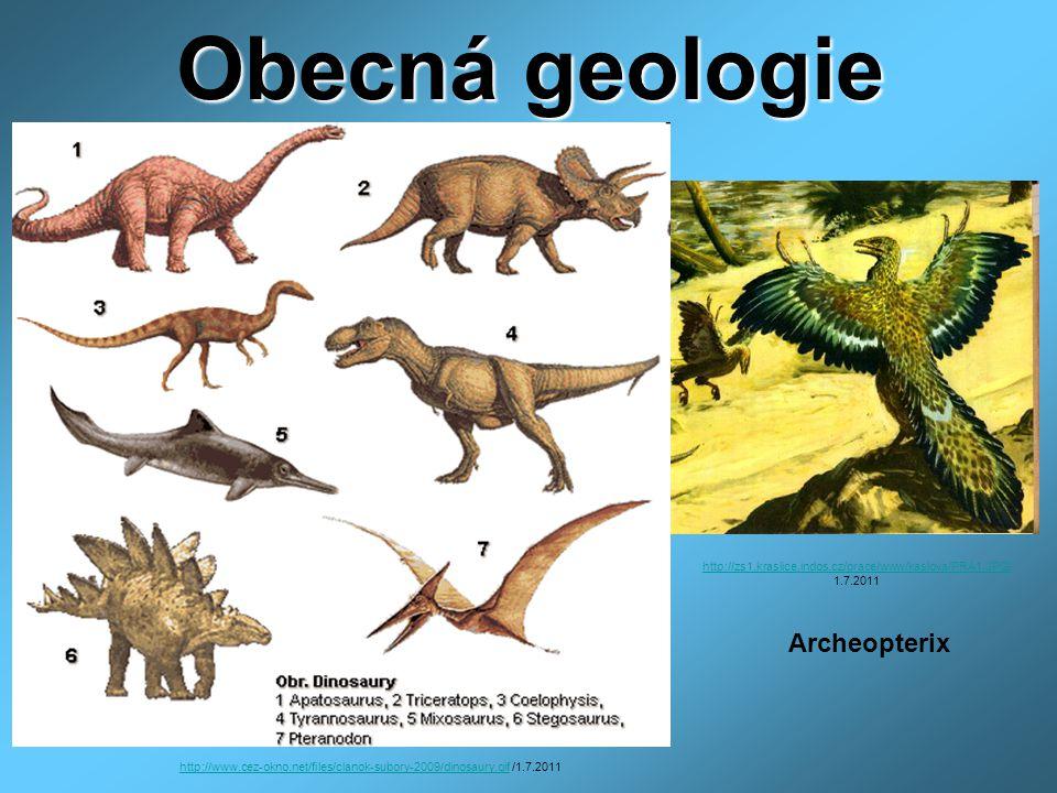 Obecná geologie 1.Od kdy do kdy trvaly druhohory.