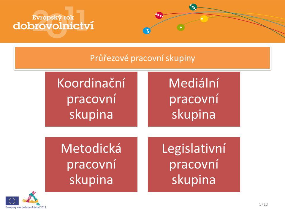 6/10 Ustanovení tematických pracovních skupin Síťovací setkání v Berouně – Listopad 2010 Zahájení činnosti – Leden 2011