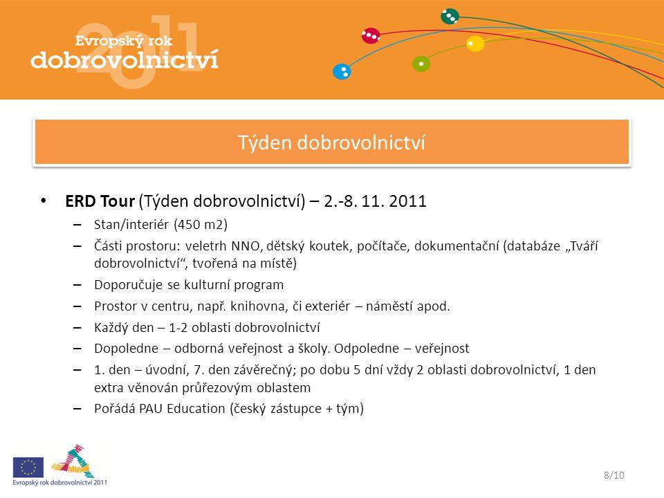 ERD Tour (Týden dobrovolnictví) – 2.-8. 11.