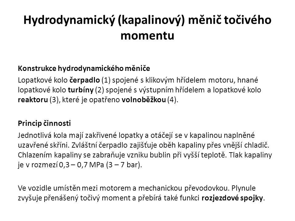 Obr. 3: Hydrodynamický (kapalinový) měnič