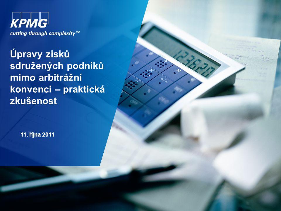 Úpravy zisků sdružených podniků mimo arbitrážní konvenci – praktická zkušenost 11. října 2011