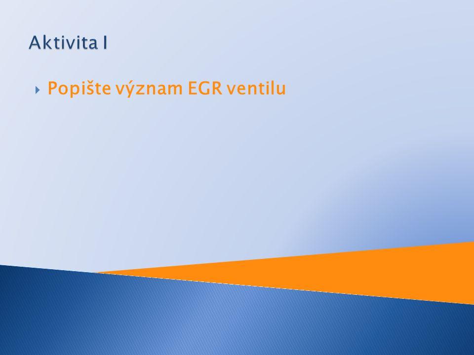  Popište význam EGR ventilu