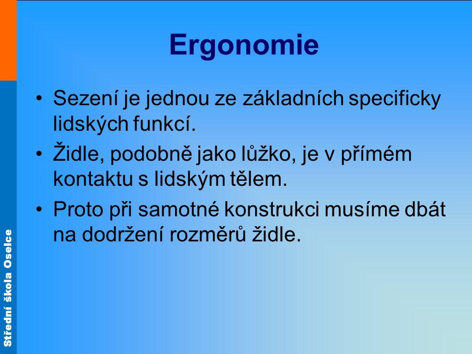 Střední škola Oselce Ergonomie Sezení je jednou ze základních specificky lidských funkcí.