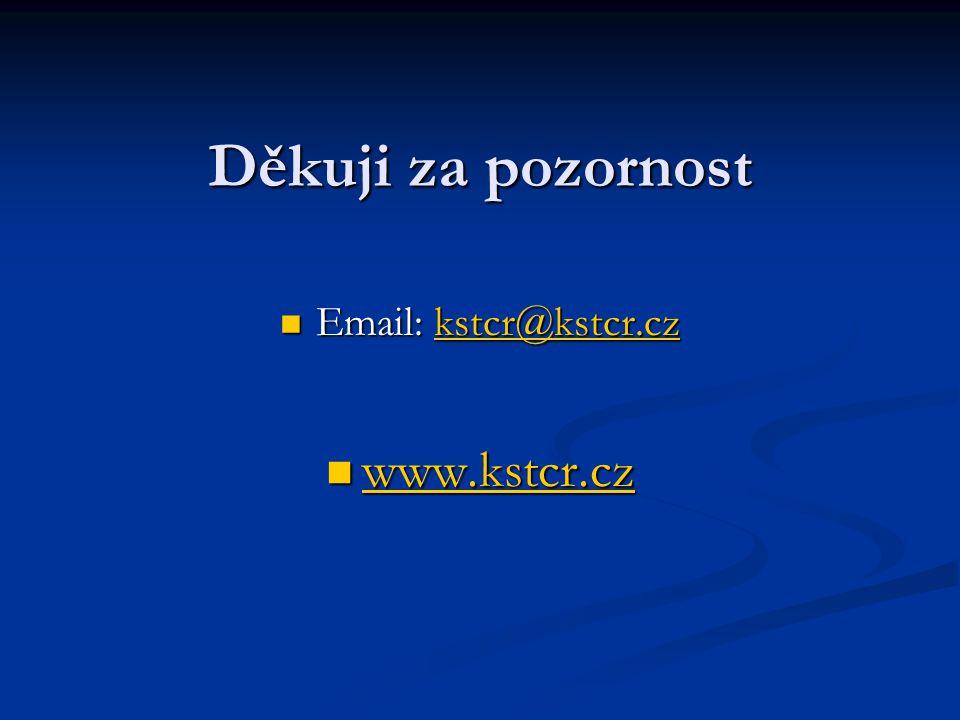 Děkuji za pozornost Email: kstcr@kstcr.cz Email: kstcr@kstcr.czkstcr@kstcr.cz www.kstcr.cz www.kstcr.cz www.kstcr.cz