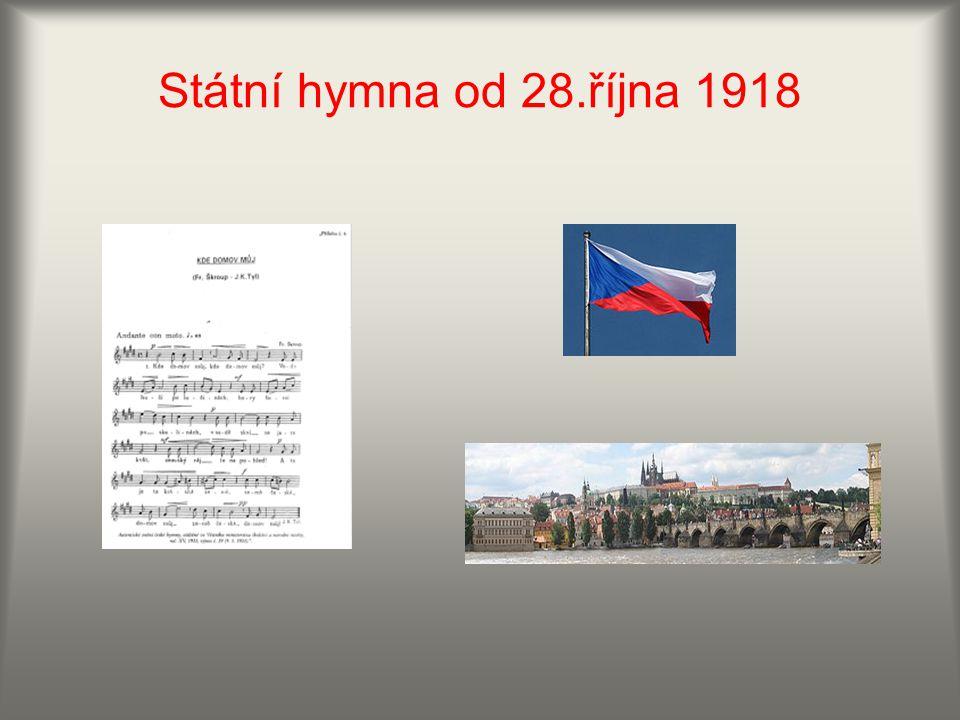 Státní hymna od 28.října 1918