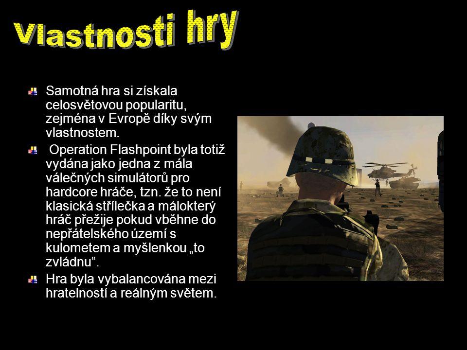 Samotná hra si získala celosvětovou popularitu, zejména v Evropě díky svým vlastnostem. Operation Flashpoint byla totiž vydána jako jedna z mála váleč