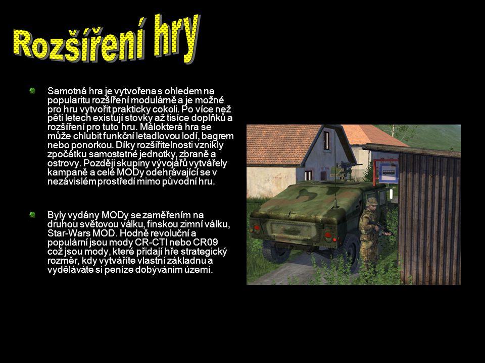Samotná hra je vytvořena s ohledem na popularitu rozšíření modulárně a je možné pro hru vytvořit prakticky cokoli.
