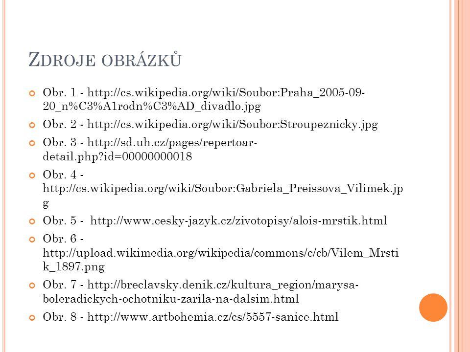 Z DROJE OBRÁZKŮ Obr. 1 - http://cs.wikipedia.org/wiki/Soubor:Praha_2005-09- 20_n%C3%A1rodn%C3%AD_divadlo.jpg Obr. 2 - http://cs.wikipedia.org/wiki/Sou