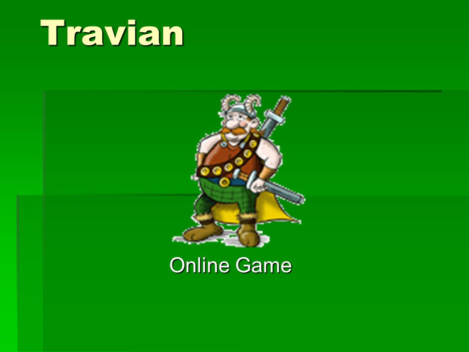 Travian Online Game Online Game