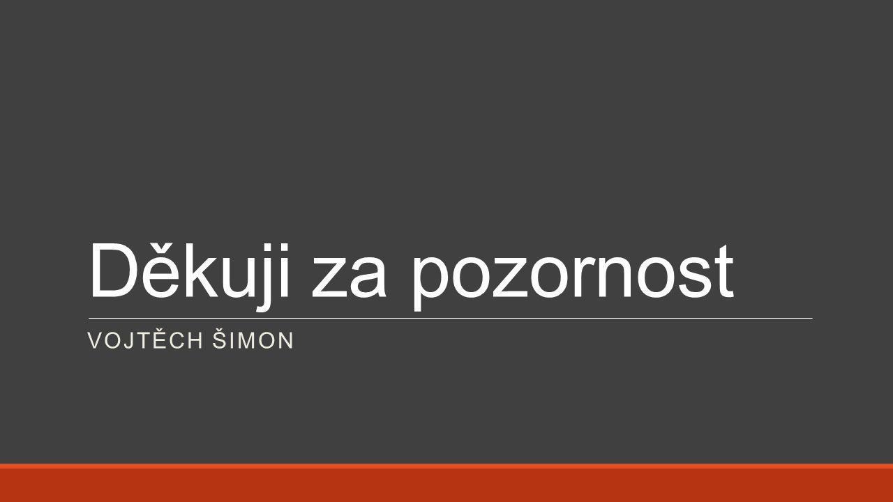 Děkuji za pozornost VOJTĚCH ŠIMON