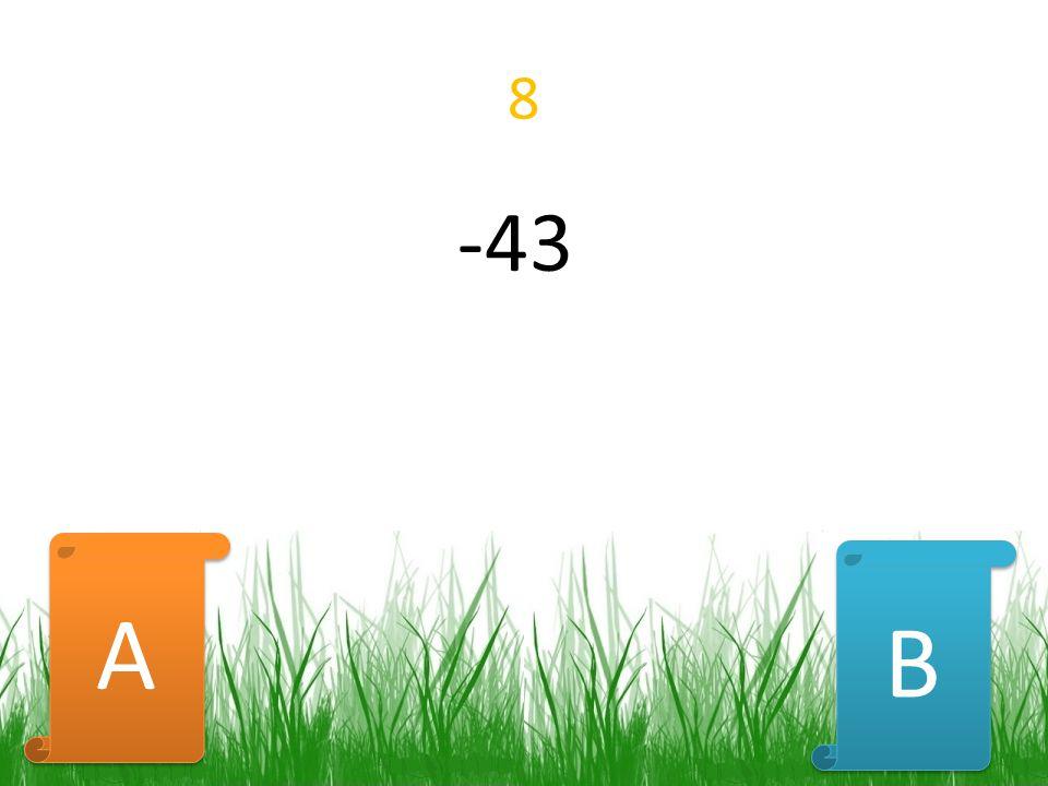 8 -43 B B A A