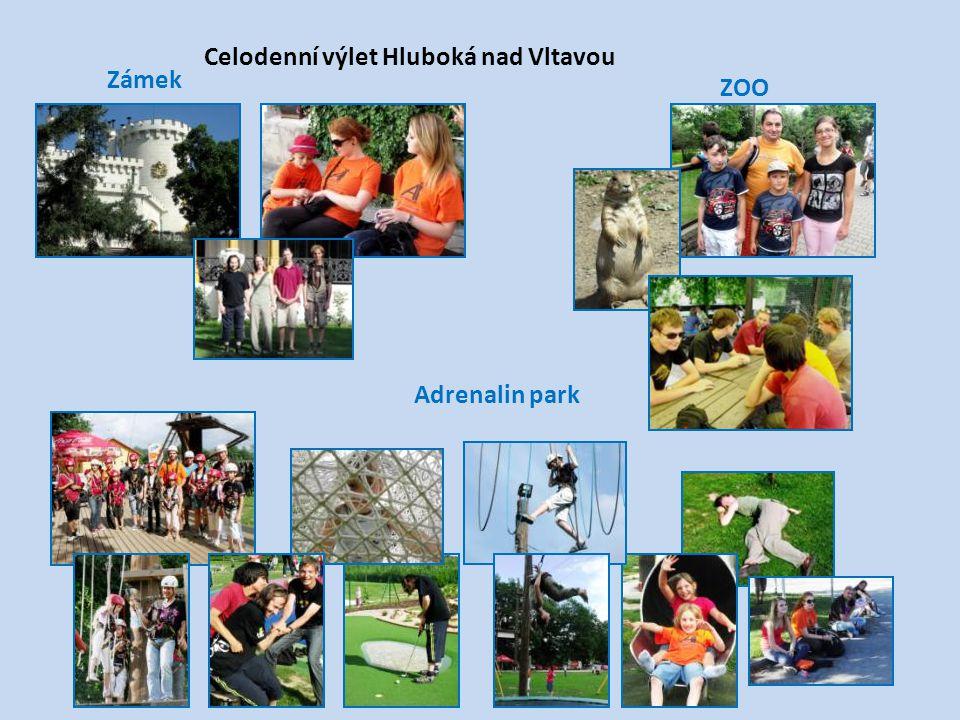Celodenní výlet Hluboká nad Vltavou Zámek Adrenalin park ZOO