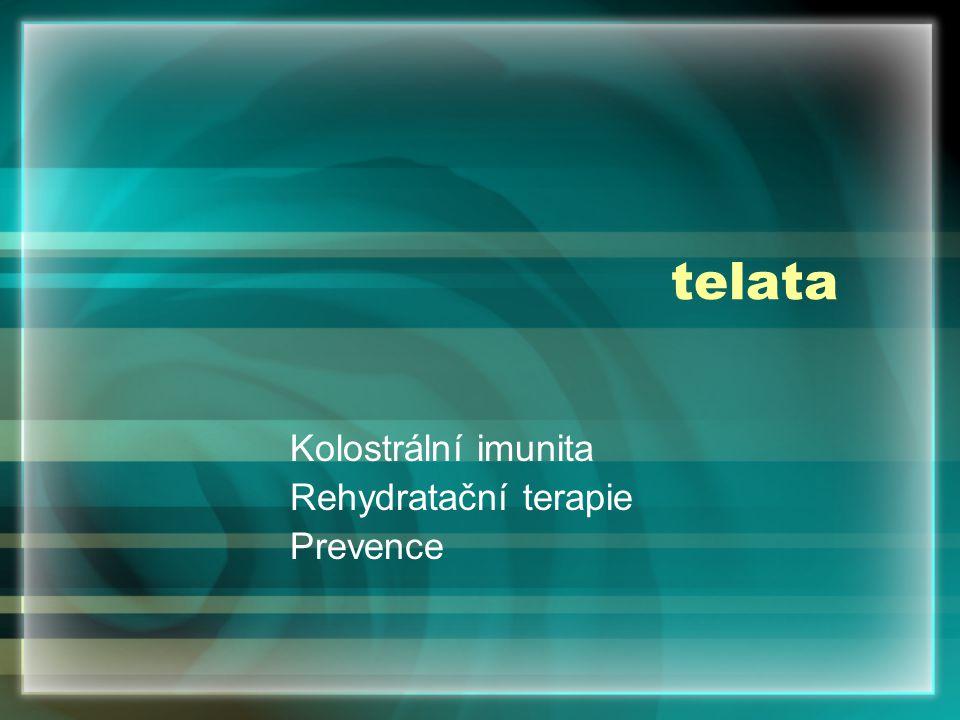 telata Kolostrální imunita Rehydratační terapie Prevence