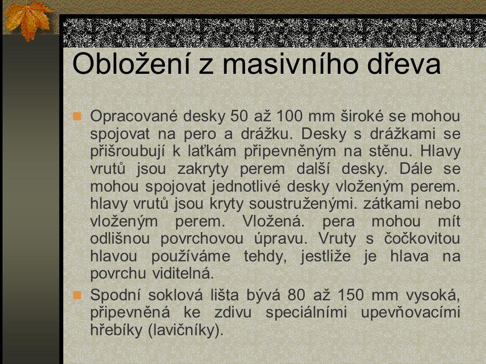 Obložení stropů Obr.