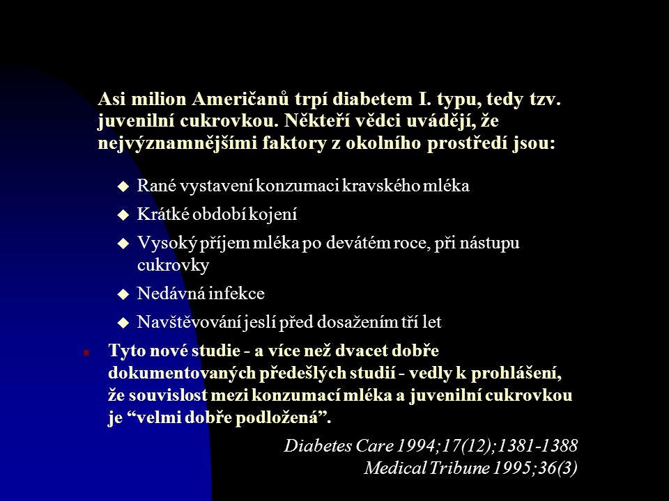 Asi milion Američanů trpí diabetem I.typu, tedy tzv.