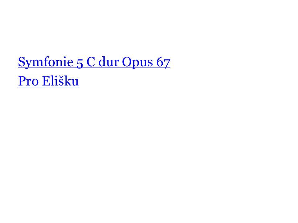 Symfonie 5 C dur Opus 67 Pro Elišku