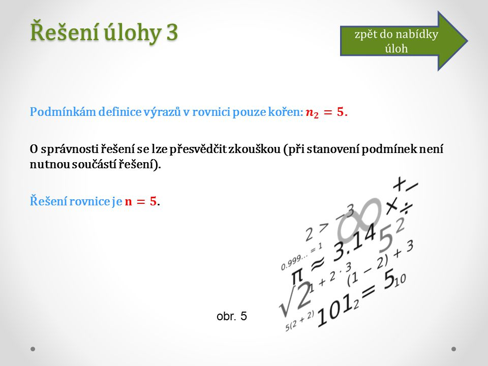 Řešení úlohy 3 obr. 5