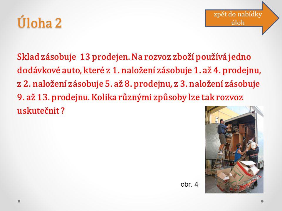 Úloha 2 Sklad zásobuje 13 prodejen. Na rozvoz zboží používá jedno dodávkové auto, které z 1.