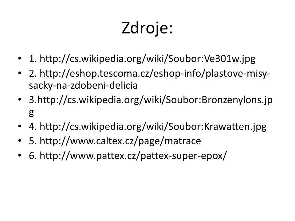 Zdroje: 1.http://cs.wikipedia.org/wiki/Soubor:Ve301w.jpg 2.
