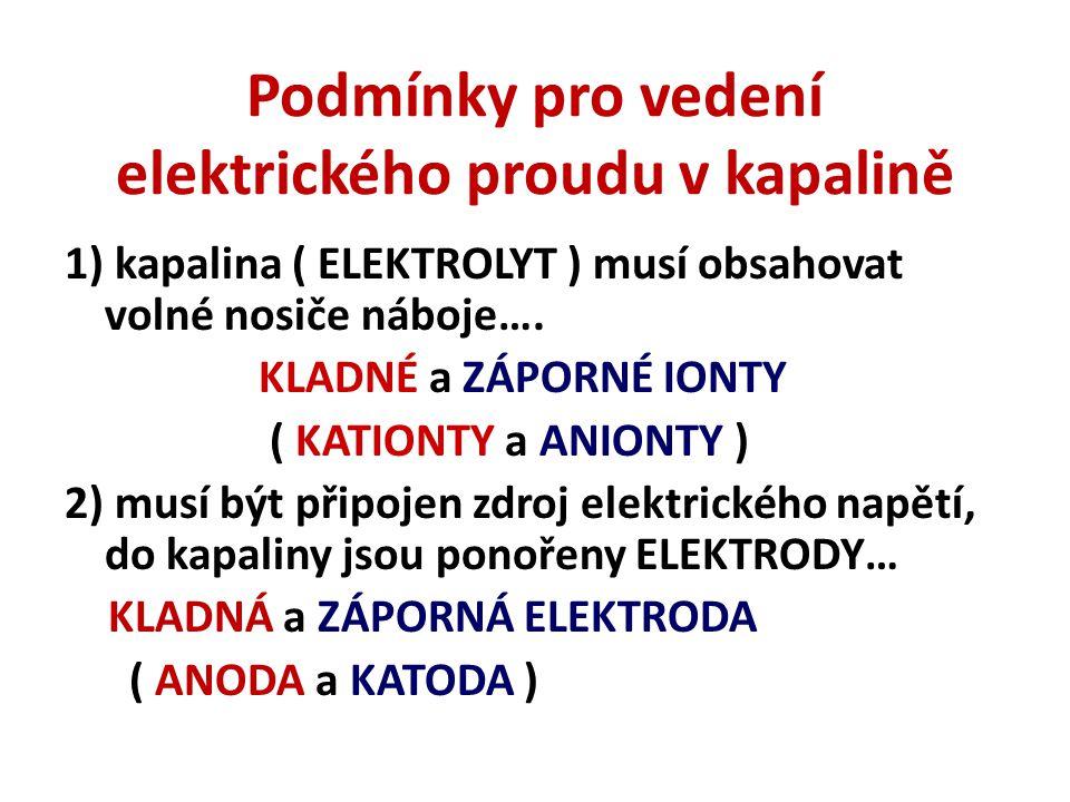 Vedení elektrického proudu v kapalině