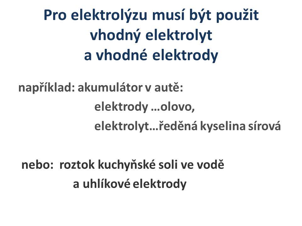 Zopakuj si Pojmy: kationt, aniont, katoda, anoda.Co je to elektrolyt.