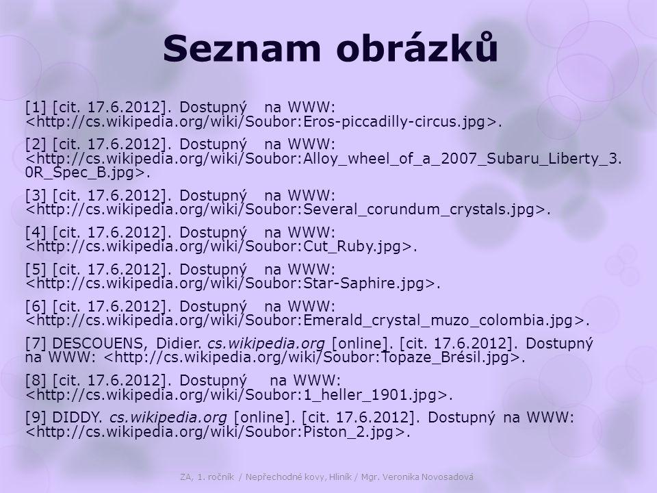 Seznam obrázků [1] [cit. 17.6.2012]. Dostupný na WWW:.