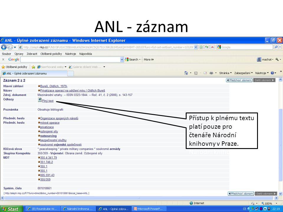 ANL - záznam Přístup k plnému textu platí pouze pro čtenáře Národní knihovny v Praze.