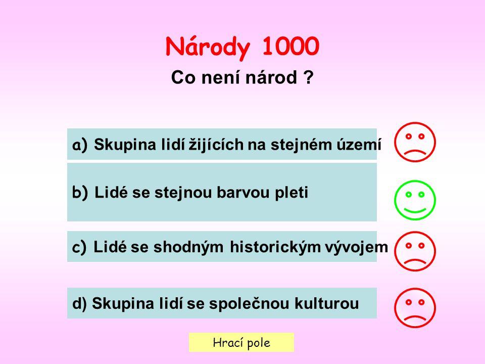 Hrací pole Národy 1000 Co není národ .