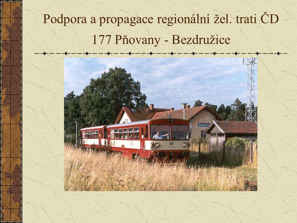 Podpora a propagace regionální žel. trati ČD 177 Pňovany - Bezdružice