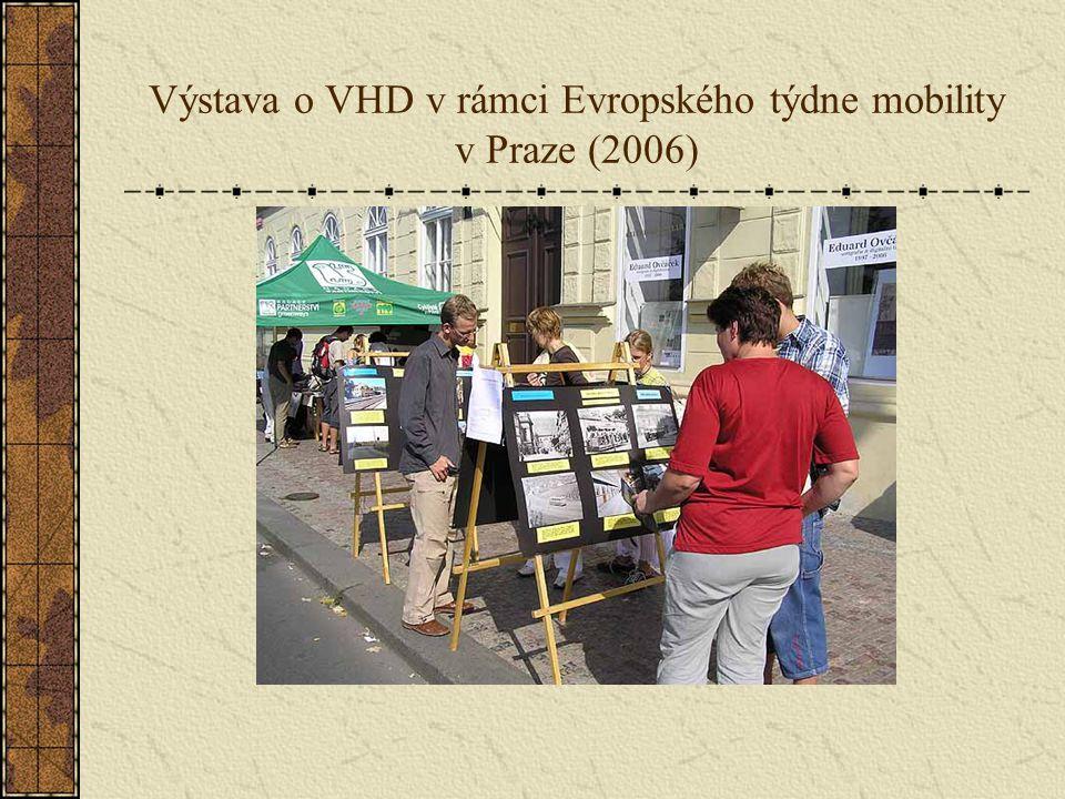 Výstava o VHD v rámci Evropského týdne mobility v Praze (2006)