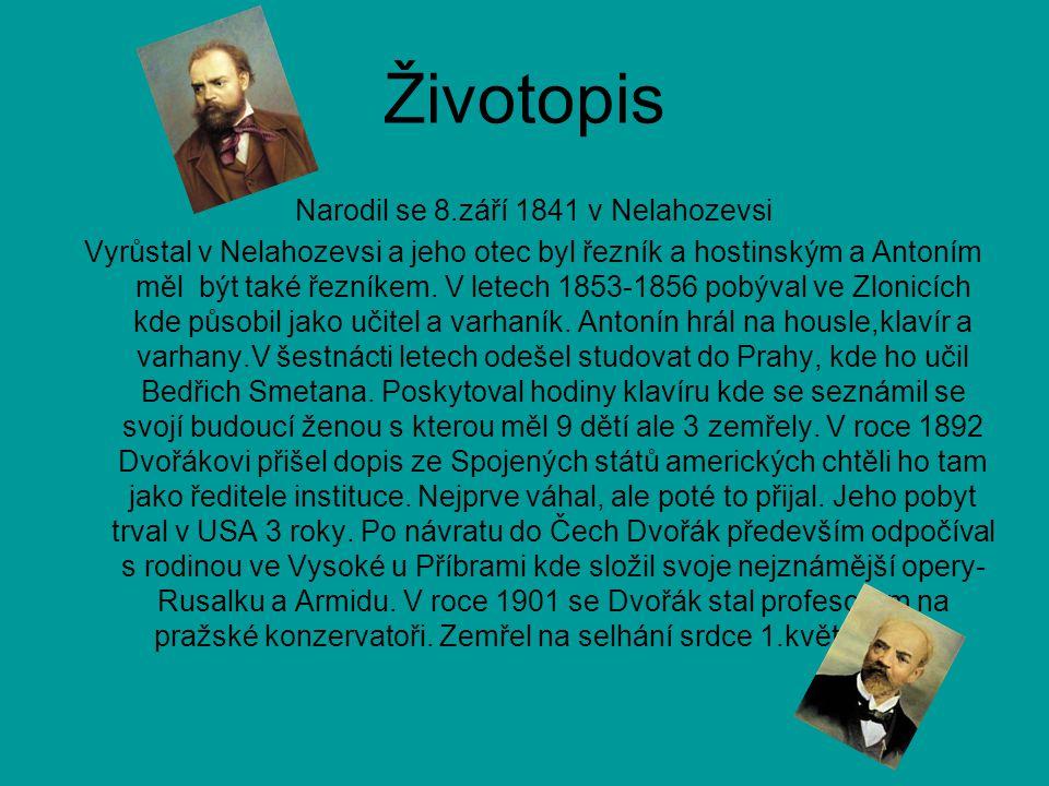 Dvořákova díla Antonín Dvořák složil mnoho významných děl: Čert a Káča, Rusalka, Slovanské tance, Stabat Mater, Svatá Ludmila… A mnoho dalších.