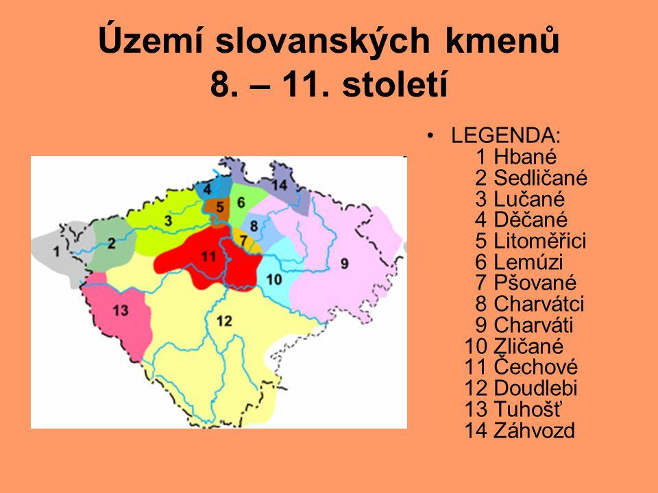 Území slovanských kmenů 8.– 11.