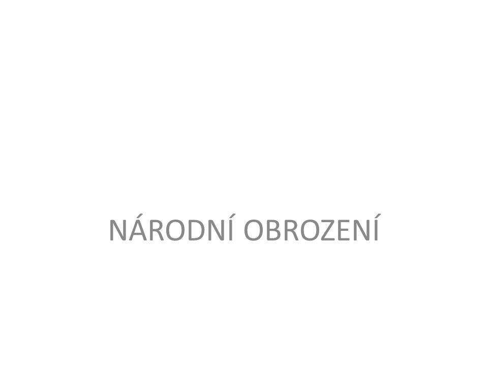 národní obrození = společenský proces vedoucí k záchraně českého jazyka a literatury a k národní emancipaci 80.
