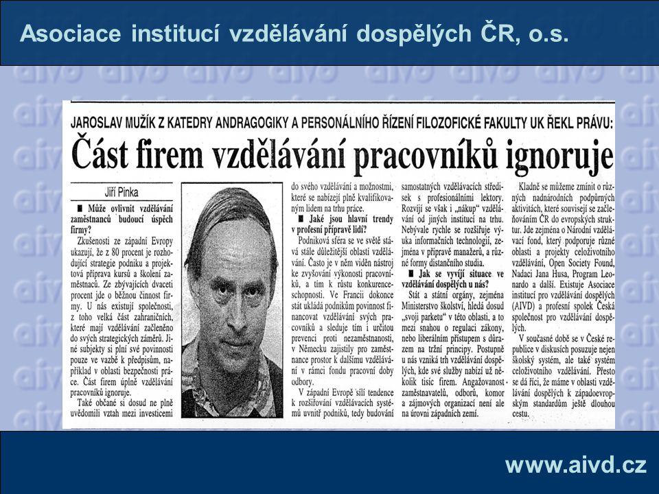 Firemní vzdělávání v ČR se přibližuje zahraničí.