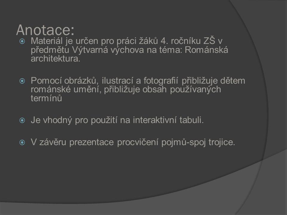 Anotace:  Materiál je určen pro práci žáků 4.
