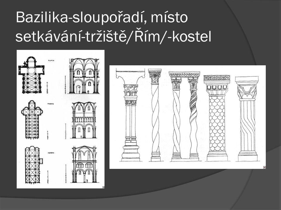 Bazilika-sloupořadí, místo setkávání-tržiště/Řím/-kostel