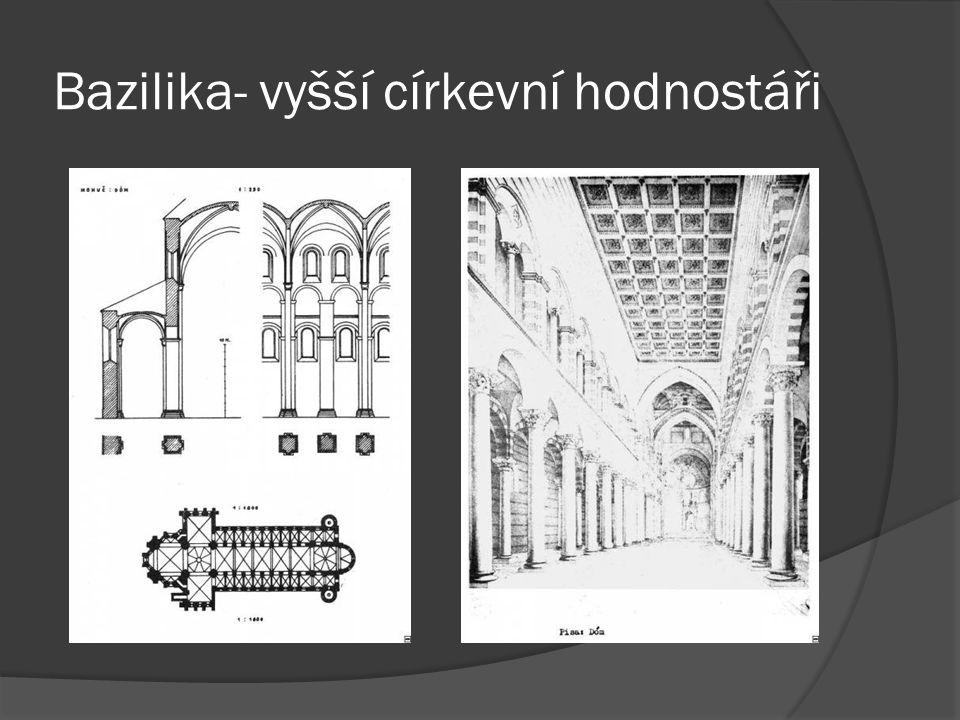 Bazilika- vyšší církevní hodnostáři