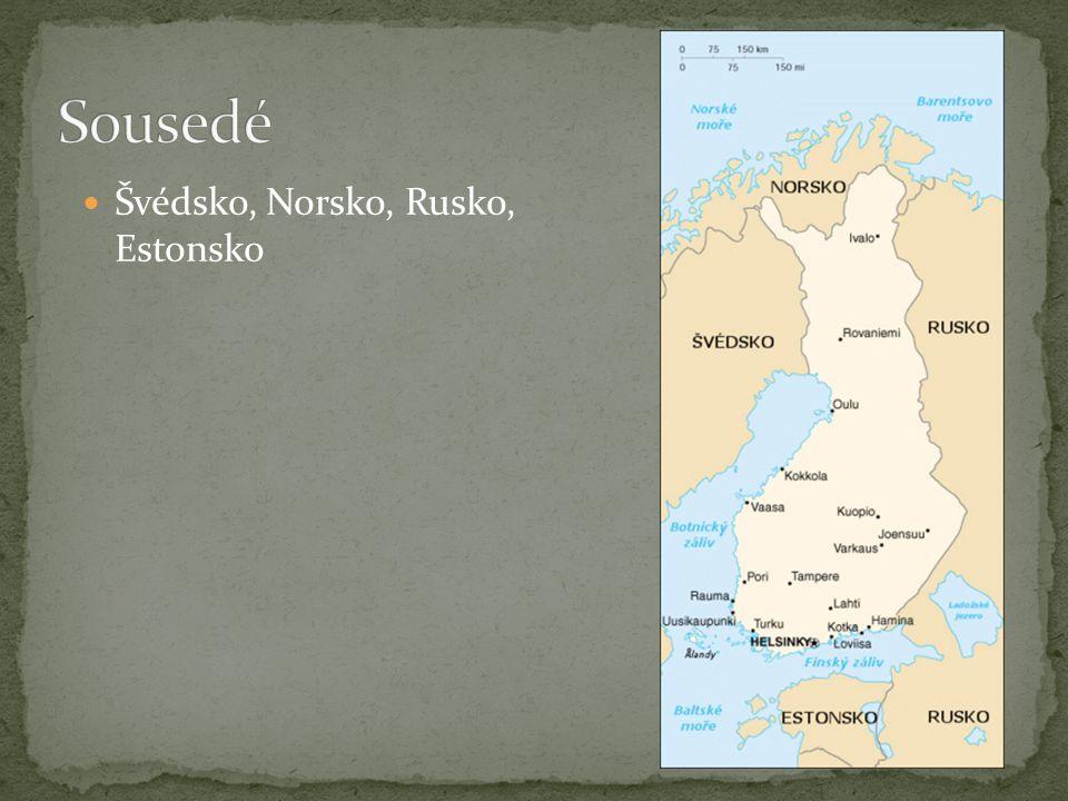 Finsko je zemí tisíců jezer a ostrovů,necelých 10 % jeho plochy pokrývají jezera.
