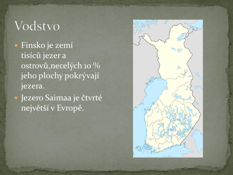 Finská krajina je převážně rovinatá s nízkými kopci.