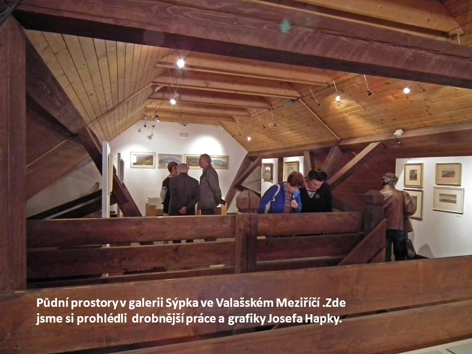 V prvých dvou patrech Galerie Sýpka jsou práce mladých autorů Jaroslava Koléška ( žije a tvoří ve Valašském Meziříčí) a Petry Brázdilové z Bystřičky.